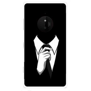 Snooky Printed White Collar Mobile Back Cover For Microsoft Lumia 830 - Multi
