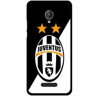 Snooky Printed Football Club Mobile Back Cover For Micromax Canvas Spark Q380 - Black