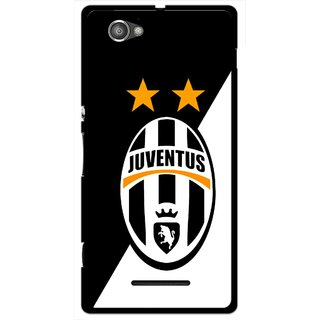 Snooky Printed Football Club Mobile Back Cover For Sony Xperia M - Black
