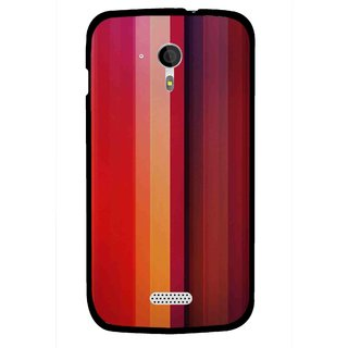 Snooky Printed Colorfull Stripes Mobile Back Cover For Micromax A116 - Multi