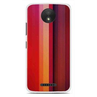 Snooky Printed Colorfull Stripes Mobile Back Cover For Motorola Moto C Plus - Multi