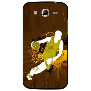 Snooky Printed Chamoins wins Mobile Back Cover For Samsung Galaxy Mega 5.8 - Brown