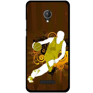 Snooky Printed Chamoins wins Mobile Back Cover For Micromax Canvas Spark Q380 - Brown