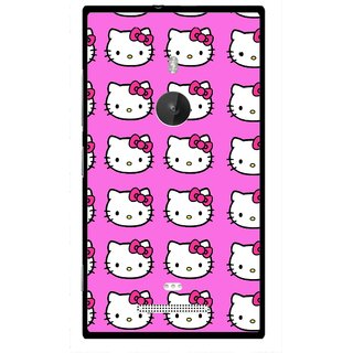 Snooky Printed Pink Kitty Mobile Back Cover For Nokia Lumia 925 - Multi