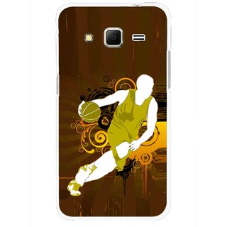 Snooky Printed Chamoins wins Mobile Back Cover For Samsung Galaxy Core Prime - Brown