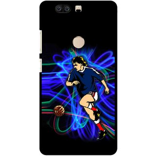Snooky Printed Football Passion Mobile Back Cover For Huawei Honor 8 - Multi