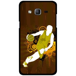 Snooky Printed Chamoins wins Mobile Back Cover For Samsung Galaxy On5 - Brown
