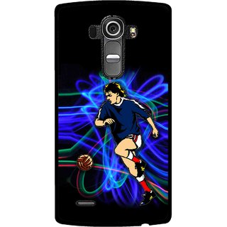 Snooky Printed Football Passion Mobile Back Cover For Lg G4 - Multi