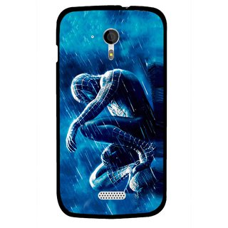 Snooky Printed Blue Hero Mobile Back Cover For Micromax A116 - Blue