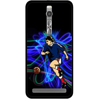 Snooky Printed Football Passion Mobile Back Cover For Asus Zenfone 2 - Multi