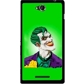 Snooky Printed Ismail Please Mobile Back Cover For Sony Xperia C - Green