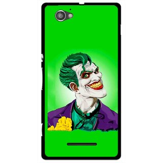 Snooky Printed Ismail Please Mobile Back Cover For Sony Xperia M - Green