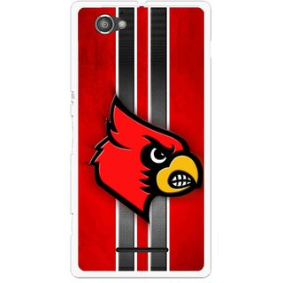 Snooky Printed Red Eagle Mobile Back Cover For Sony Xperia M - Multicolour