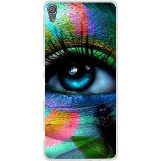 Snooky Printed Designer Eye Mobile Back Cover For Sony Xperia XA1 - Multi