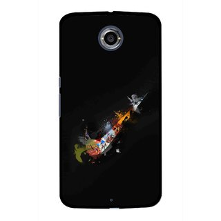 Snooky Printed All is Right Mobile Back Cover For Motorola Nexus 6 - Black