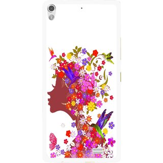 Snooky Printed Girl Beauty Mobile Back Cover For Gionee Elife S5.1 - Multi