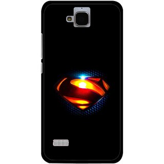 Snooky Printed Super Hero Mobile Back Cover For Huawei Honor Holly - Black