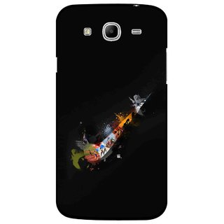 Snooky Printed All is Right Mobile Back Cover For Samsung Galaxy Mega 5.8 - Black