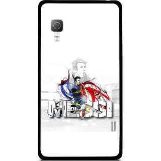 Snooky Printed Messi Mobile Back Cover For Lg Optimus L5II E455 - White