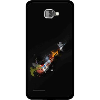 Snooky Printed All is Right Mobile Back Cover For Micromax Canvas Mad A94 - Black