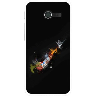 Snooky Printed All is Right Mobile Back Cover For Asus Zenfone 4 - Black