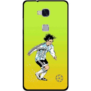 Snooky Printed Focus Ball Mobile Back Cover For Huawei Honor 5X - Multi