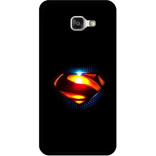 Snooky Printed Super Hero Mobile Back Cover For Samsung Galaxy A3 (2016) - Black