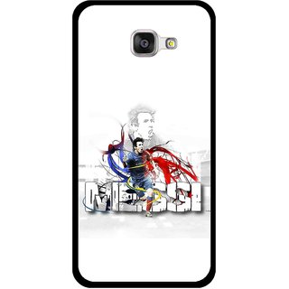 Snooky Printed Messi Mobile Back Cover For Samsung Galaxy A3 (2016) - White