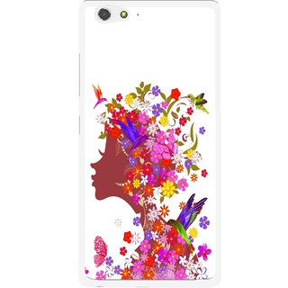 Snooky Printed Girl Beauty Mobile Back Cover For Gionee Elife S6 - Multi