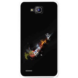 Snooky Printed All is Right Mobile Back Cover For Huawei Honor 3C - Black