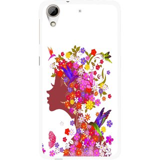 Snooky Printed Girl Beauty Mobile Back Cover For HTC Desire 626 - Multi