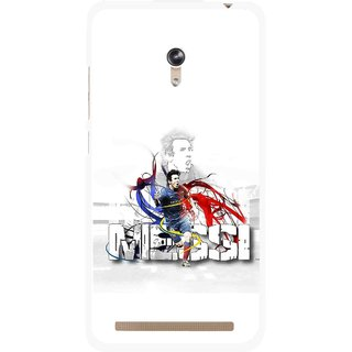Snooky Printed Messi Mobile Back Cover For Asus Zenfone 6 - White