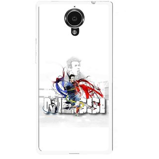 Snooky Printed Messi Mobile Back Cover For Gionee Elife E7 - White