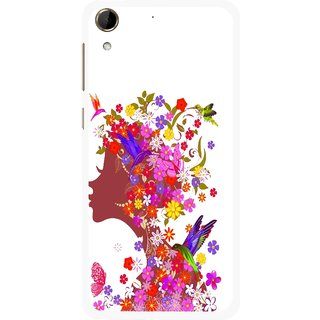 Snooky Printed Girl Beauty Mobile Back Cover For HTC Desire 728 - Multi
