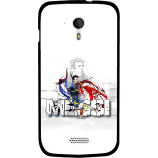 Snooky Printed Messi Mobile Back Cover For Micromax A116 - White