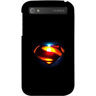 Snooky Printed Super Hero Mobile Back Cover For Blackberry Classic - Black