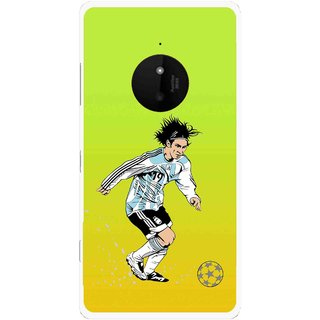 Snooky Printed Focus Ball Mobile Back Cover For Microsoft Lumia 830 - Multi