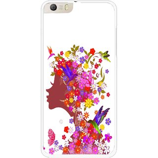 Snooky Printed Girl Beauty Mobile Back Cover For Micromax Canvas Knight 2 E471 - Multi
