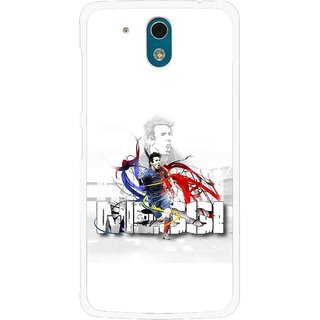 Snooky Printed Messi Mobile Back Cover For HTC Desire 326G - White