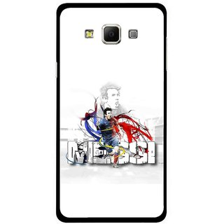 Snooky Printed Messi Mobile Back Cover For Samsung Galaxy E5 - White