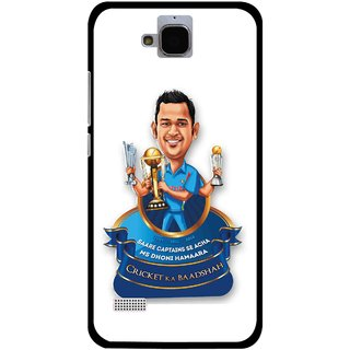 Snooky Printed Cricket Ka Badshah Mobile Back Cover For Huawei Honor Holly - White
