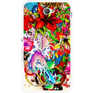 Buy Snooky Printed Horny Flowers Mobile Back Cover For Sony Xperia E4 - Multi Online - Get 77% Off