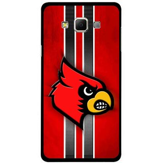 Snooky Printed Red Eagle Mobile Back Cover For Samsung Galaxy E5 - Red