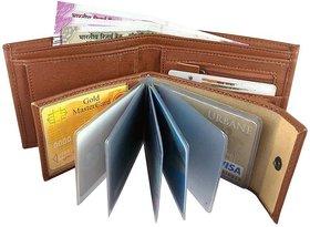 Amicraft Men's Leatherite Tan Bi-fold Wallet
