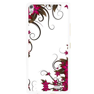 Snooky Printed Flower Creep Mobile Back Cover For Gionee Elife S5.1 - Multi