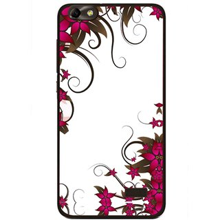 Snooky Printed Flower Creep Mobile Back Cover For Huawei Honor 4C - Multi