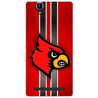 Snooky Printed Red Eagle Mobile Back Cover For Sony Xperia T2 Ultra - Red