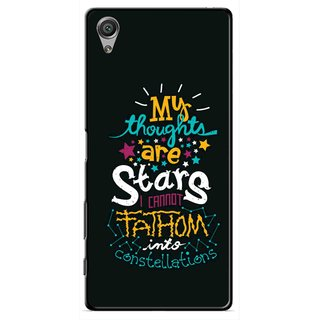 Snooky Printed Thoughts Are Stars Mobile Back Cover For Sony Xperia X - Black