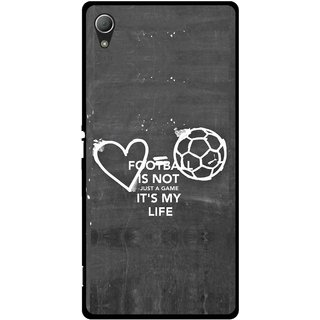 Snooky Printed Football Life Mobile Back Cover For Sony Xperia Z3 - Multi
