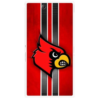 Snooky Printed Red Eagle Mobile Back Cover For Sony Xperia Z Ultra - Red
